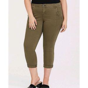 Torrid Green crop pants